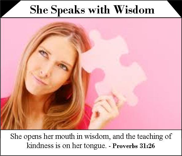 She speaks with wisdom