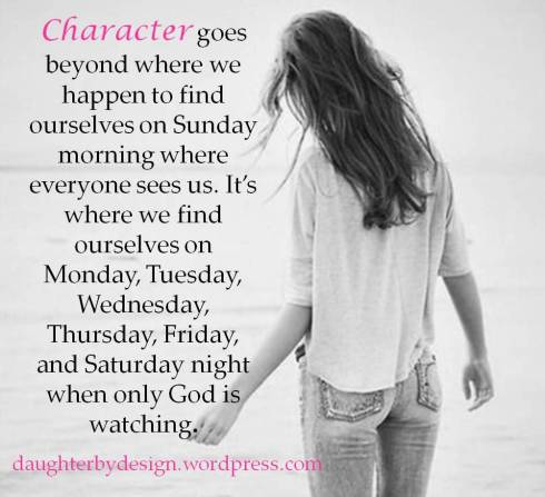 Character, God, godly character